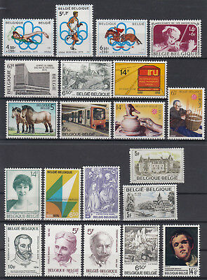 Belgium 1976 Belgique ☀ nice collection / lot of 21 MNH stamps - scan