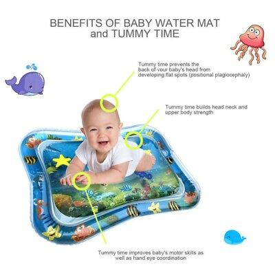 US Kids Inflatable Fun Water Play Mat for Baby Children Infants Best Tummy Time