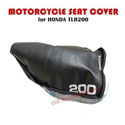 HONDA TLR200 TLR 200  MOTORCYCLE SEAT COVER with WHITE LOGOS