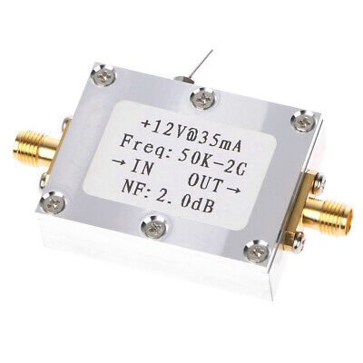 RF Amplifier 50K-2GHZ Low Noise Amplifier Signal Receiver Broadband 31DB Gain