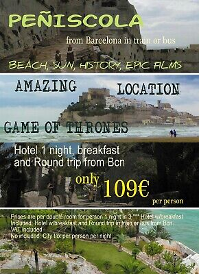 Peñiscola spain - Amazing Game of Thrones Locatión - Round trip from Barcelona