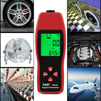 TA8143 Digital Tachometer Laser RPM Gauge 2.5~99999RPM Non-Contact Speedometer