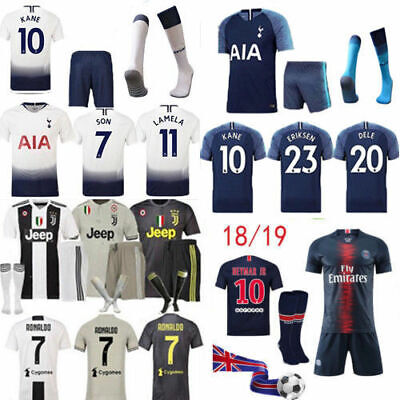 18/19 Football Kits Jersey Kids Adult Soccer Suits Training Shirts Socks Shorts