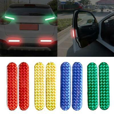 Car Safety Reflective Tape Sticker Door Open Warning Stickers Reflector 2pcs