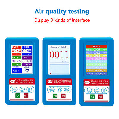 Air Quality Monitor Formaldehyde Detector PM2.5 /1.0/10 Gas Analyzer HCHO Tester