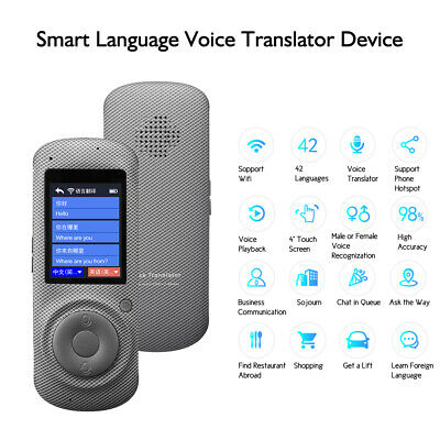 "2.4"" Smart Language Voice Translator Device 42 Languages for Learnning Traveling"