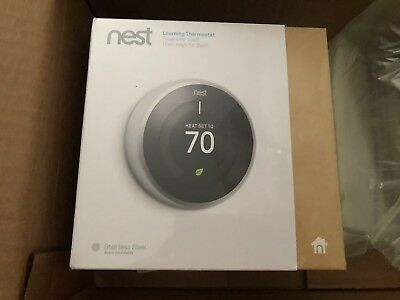 Nest Thermostat 3rd Generation Stainless Steel New In Box!!