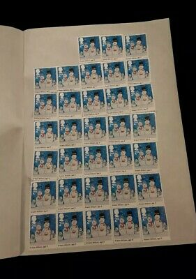 33 x 2nd Class xmas Unfranked Stamps off PaperWITH ORIGINAL GUM Easy Peel (2)
