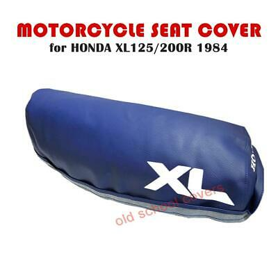 HONDA XL125R XL200R 1984 MODEL MOTORCYCLE SEAT COVER IN BLUE with WHITE LOGOS