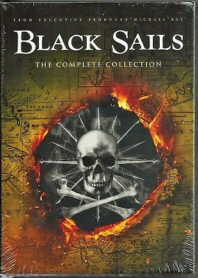 Black Sails Season 1, 2, 3 & 4 (Complete Series Collection) DVD TV Shows 1-4