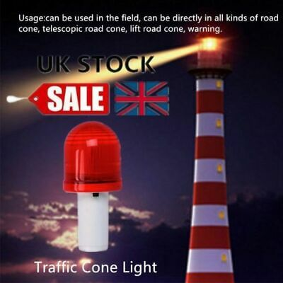 LED Road Hazard Block Lamp Flashing Safety Traffic Cone Topper Warning Light *uk