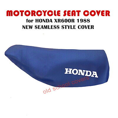 Honda Xr600R Xr 600 R 1988 Model Seamless Seat Cover In Blue With White Logos