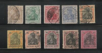 Germany stamps #66 - 74, used short set, very clean