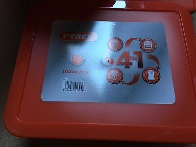 PYREX RECTANGULAR GLASS OVEN DISH STORAGE BOWL WITH PLASTIC LID COOKING 27x23/4l