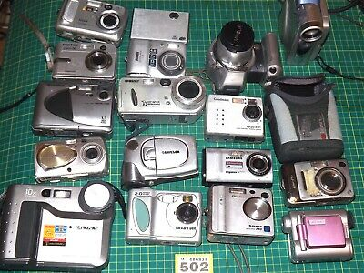 job lot bundle of 17x DIGITAL cameras/camcorders - all sold as faulty