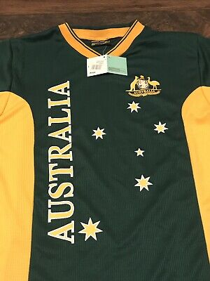 c0e7321829e Nwt New Hoxley Australia Aussie National Cricket Rugby Casual Shirt Jersey  Sz Xs