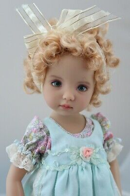 New Wig for Dianna Effner Little Darling doll Blonde short curls