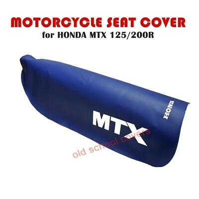 Honda Mtx125R Mtx200R Mtx 125 R Blue Motorcycle Seat Cover With White Logos
