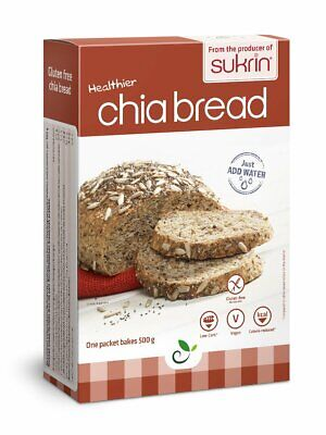 Sukrin Chia Bread Mix 250g Gluten Free Low Sugar Low Fat Low Carb Daibetic