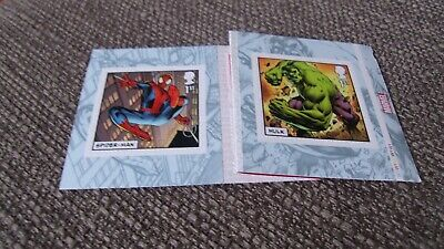 2019 MARVEL COMICS SELF ADHESIVE 2 x SINGLE FIRST CLASS STAMPS -  BOOKLET PM65