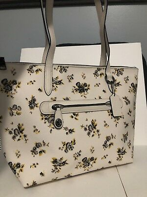 b806c3d961 New Coach F87458 Taylor Tote Shoulder Bag Handbag Prairie Floral Turnlock  Chalk