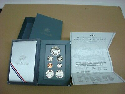 1991 US Mint Mt Rushmore Prestige Proof Coin Set with COA