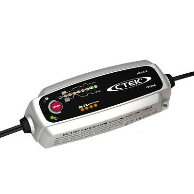 CTEK MXS 5.0 12V 5A 8 Step Automatic Smart Battery Charger with 5 Year Warranty