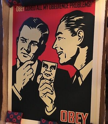 Shepard Fairey Obedience Large Format signed obey giant