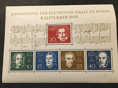 Germany Stamps with Beethoven 5/5 804 MNH