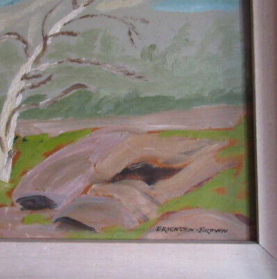 Frank Erichsen Brown Original Oil Painting