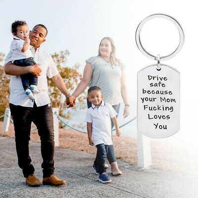 Drive Safe Stainless Steel Lover Husband Gifts Keychain Mom Friends Keyring GIFT