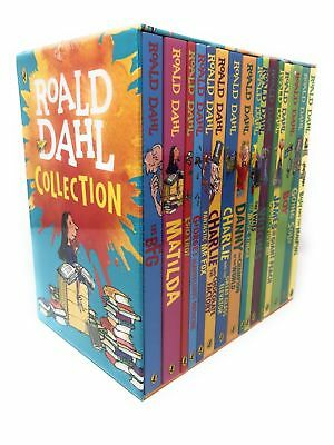 New Roald Dahl Collection 16 Books Set, BFG, Matilda,Billy and the MinPins