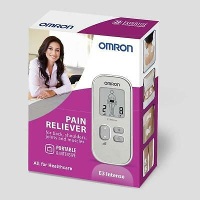 New Omron E3 intense portable pain reliever electronic Long Life Pads silver