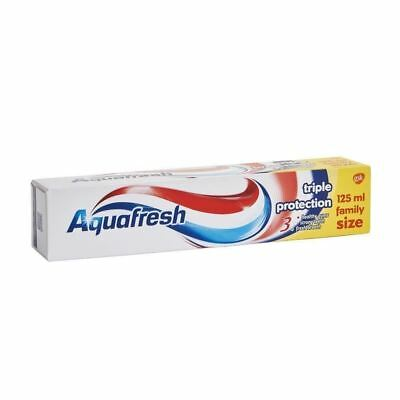Aquafresh Triple Protection Fluoride Toothpaste 125ml Pack of 3,6,9 and 12,New