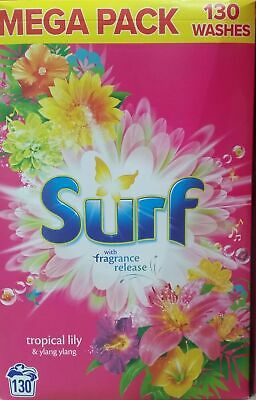 130 WASHES Surf Laundry Washing Powder Tropical Lily, Fast and Free