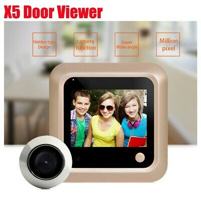 2.4'' X5 LCD Screen Digital Peephole Viewer with HD IR Camera for Home Security