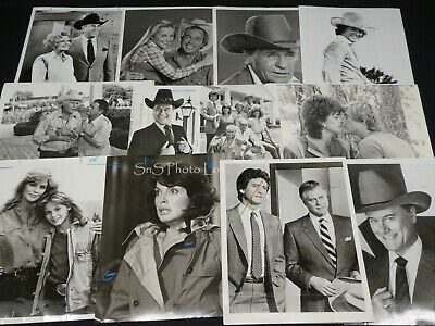 "28 x TV Press Kit Photos ~ 8x10 ""Dallas"" Larry Hagman Priscilla Presley & More"