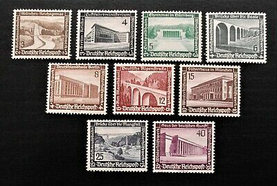 Germany- Third Reich 1936 Architecture Full set of 9 - MLH
