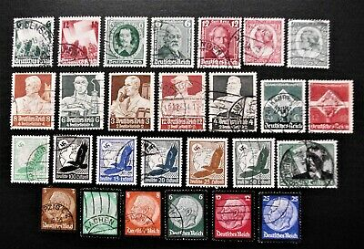 Germany- Third Reich 1934 - 1936 Selection of Used stamps - USED