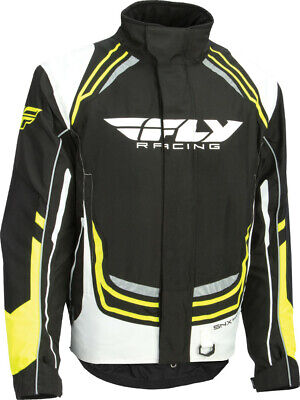 Fly Mens SNX Pro Waterproof Insulated Snowmobile Snow Jacket Black White Small