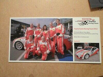 Booklet - TMG Racing Toyota GT86 - 3 Page Card + Postcard of VLN team 2012