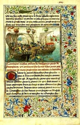 guillions ship attacked by sultan manuscript Re-production. New