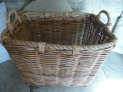 large wicker log or toy basket