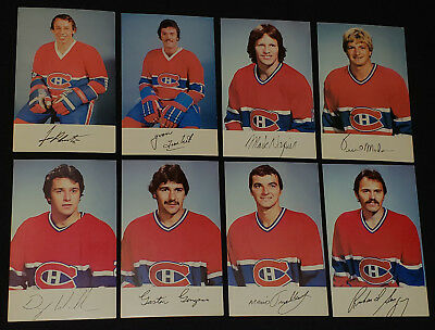 1980/81 - Montreal Canadiens - Nhl - Hockey Player - Postcards (8)