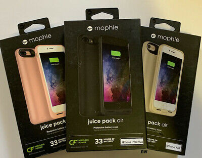 New Mophie Juice Pack Air Battery Case Wireless iPhone 7 & iPhone 8 7/8 Plus