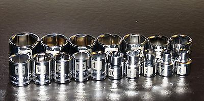 "Craftsman 17 Pc. 3/8"" Drive 6 Pt Laser Etched Easy To Read Socket Set Metric Mm"