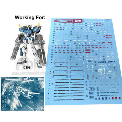Detail Up 1//100 Scale Heavy Arms EW Gundam MG Water Decal Model Kit 5932 10x15cm