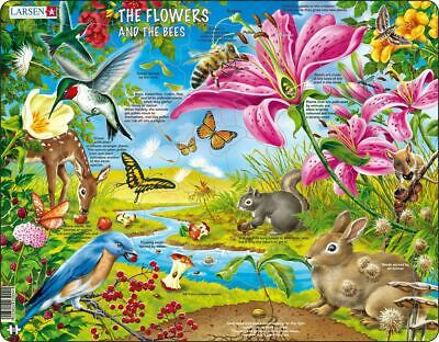 Jigsaw-The Flowers and the Bees - 55 Piece Jigsaw Puzzle, Dementi Activities