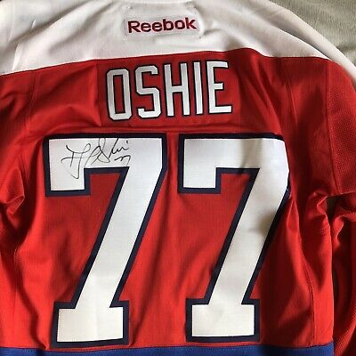 official photos e6415 3bb2b TJ OSHIE AUTHENTIC Reebok Jersey Winter Classic Signed Autographed Worn Used