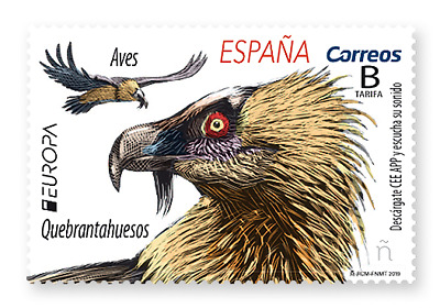 SPAIN 2019 CEPT EUROPA NATIONAL BIRDS one stamp